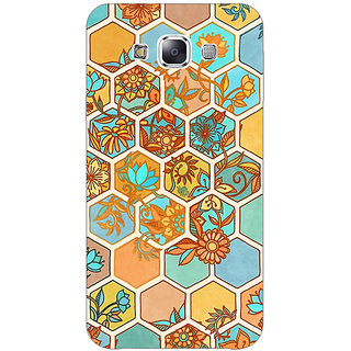 EYP Floral Hexagon Pattern Back Cover Case For Samsung A8