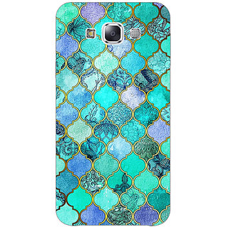 EYP Sky Blue Morocan Tiles Pattern Back Cover Case For Samsung A8