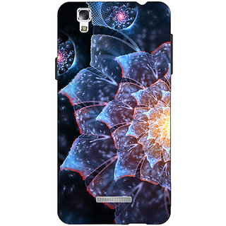 EYP Abstract Flower Pattern Back Cover Case For Micromax Yu Yureka