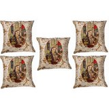 Set Of Five Mumtaz Cushion Cover Throw Pillow Design 1