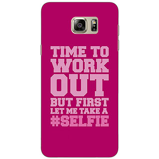 EYP Selfie Quote Back Cover Case For Samsung S6 Edge+