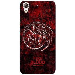 EYP Game Of Thrones GOT House Targaryen  Back Cover Case For HTC Desire 626G+