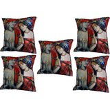 Set Of Five Love Is Beautiful Cushion Cover Throw Pillow