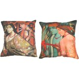 Combo Of Indian Painting 3 Cushion Cover Throw Pillow Design 1