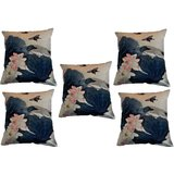 Set Of Five Beautiful Summer Cushion Cover Throw Pillow