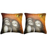 Pair Of Faces Cushion Cover Throw Pillow Design 1