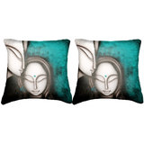 Pair Of Faces Cushion Cover Throw Pillow Design 2