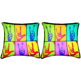 Pair Of Hands Cushion Cover Throw Pillow
