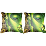 Pair Of Indian Saint Cushion Cover Throw Pillow Design 1