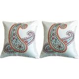 Pair Of Paisley Cushion Cover Throw Pillow Design 1