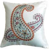 Paisley Cushion Cover Throw Pillow Design 1