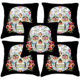Set Of Five Skull 1  Cushion Cover Throw Pillow