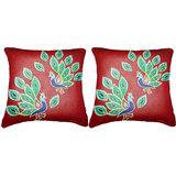 Pair Of Peacock 1  Cushion Cover Throw Pillow