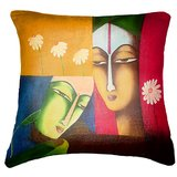 Faces 3 Cushion Cover Throw Pillow