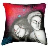 Faces 4 Cushion Cover Throw Pillow