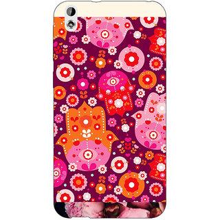 EYP Floral Pattern  Back Cover Case For HTC Desire 816