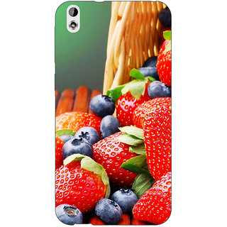 EYP Strawberry Love Back Cover Case For HTC Desire 816 Dual Sim