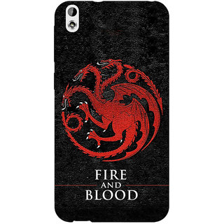 EYP Game Of Thrones GOT House Targaryen  Back Cover Case For HTC Desire 816 Dual Sim