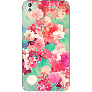 EYP Floral Pattern  Back Cover Case For HTC Desire 816G