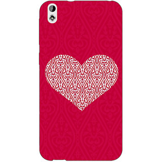 EYP Hearts Back Cover Case For HTC Desire 816G