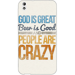 EYP Beer Quote Back Cover Case For HTC Desire 816G