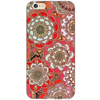 EYP Orange Flowers Pattern Back Cover Case For Apple iPhone 6S Plus