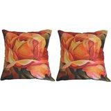 Pair Of Beautiful Rose Cushion Cover Throw Pillow