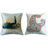 Combo Of Ethnic Design 2 Cushion Cover Throw Pillow