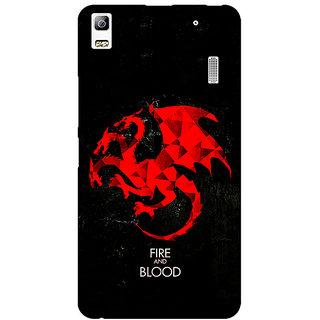 EYP Game Of Thrones GOT House Targaryen  Back Cover Case For Lenovo K3 Note