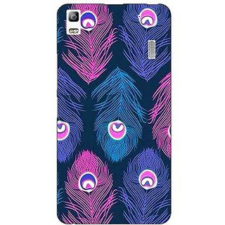 EYP Feather Pattern Back Cover Case For Lenovo K3 Note
