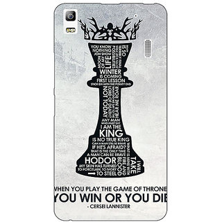 EYP Game Of Thrones GOT Cersei Lannister Quote Back Cover Case For Lenovo K3 Note