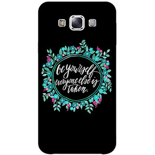 EYP Quotes Be yourself Back Cover Case For Samsung Galaxy J5