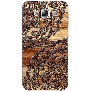 EYP Black Brown Doodle Pattern Back Cover Case For Samsung Galaxy J7