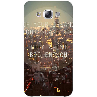 EYP Quotes Dreams Back Cover Case For Samsung Galaxy On5