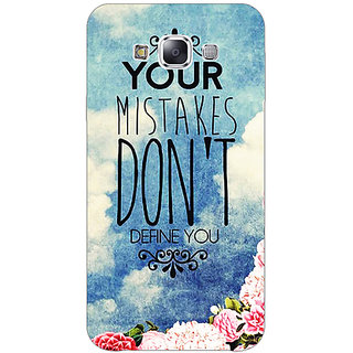 EYP Quotes Mistakes Back Cover Case For Samsung Galaxy On5