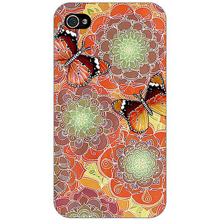 Enhance Your Phone Butterflies Pattern Back Cover Case For Apple iPhone 4 E10261