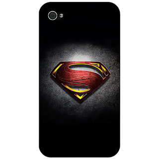 Enhance Your Phone Superheroes Superman Back Cover Case For Apple iPhone 4 E10037