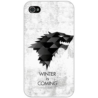 Enhance Your Phone Game Of Thrones GOT House Stark  Back Cover Case For Apple iPhone 4 E10130