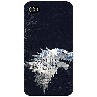 Enhance Your Phone Game Of Thrones GOT House Stark  Back Cover Case For Apple iPhone 4 E10131