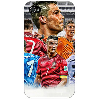 Enhance Your Phone Cristiano Ronaldo Real Madrid Back Cover Case For Apple iPhone 4 E10310