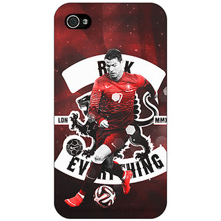 Enhance Your Phone Cristiano Ronaldo Portugal Back Cover Case For Apple iPhone 4 E10319