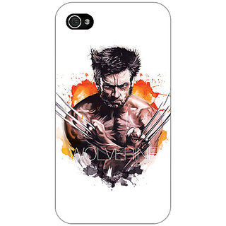 Enhance Your Phone Superheroes Wolverine Back Cover Case For Apple iPhone 4 E10335