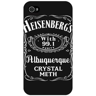 Enhance Your Phone Breaking Bad Heisenberg Back Cover Case For Apple iPhone 4 E10402