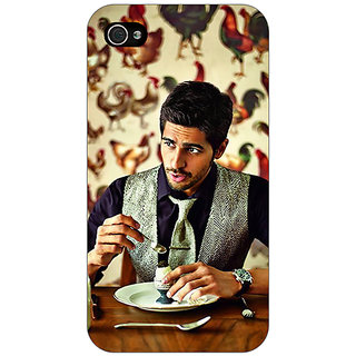 Enhance Your Phone Bollywood Superstar Siddharth Malhotra Back Cover Case For Apple iPhone 4 E10942