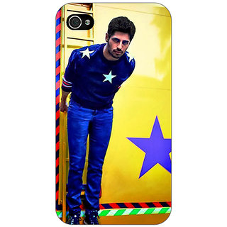 Enhance Your Phone Bollywood Superstar Siddharth Malhotra Back Cover Case For Apple iPhone 4 E10944
