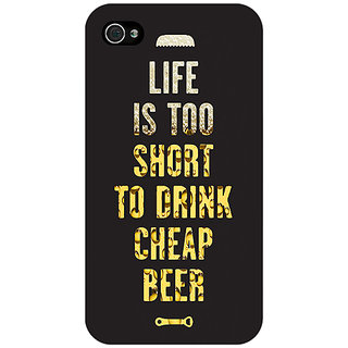Enhance Your Phone Beer Quote Back Cover Case For Apple iPhone 4 E11217