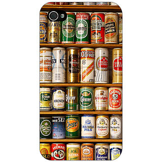 Enhance Your Phone Beer Cans Back Cover Case For Apple iPhone 4 E11233