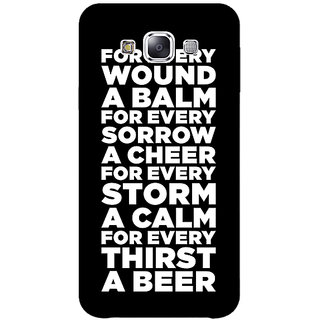 EYP Beer Quote Back Cover Case For Samsung Galaxy On7