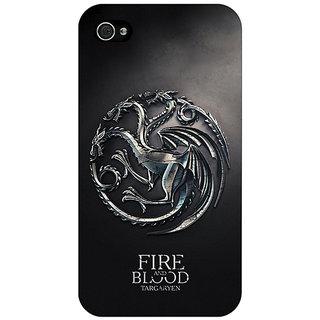 Enhance Your Phone Game Of Thrones GOT House Targaryen  Back Cover Case For Apple iPhone 4 E10145