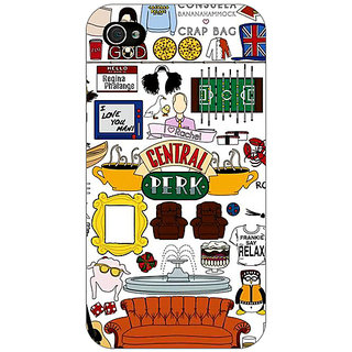 Enhance Your Phone FRIENDS Back Cover Case For Apple iPhone 4 E10450